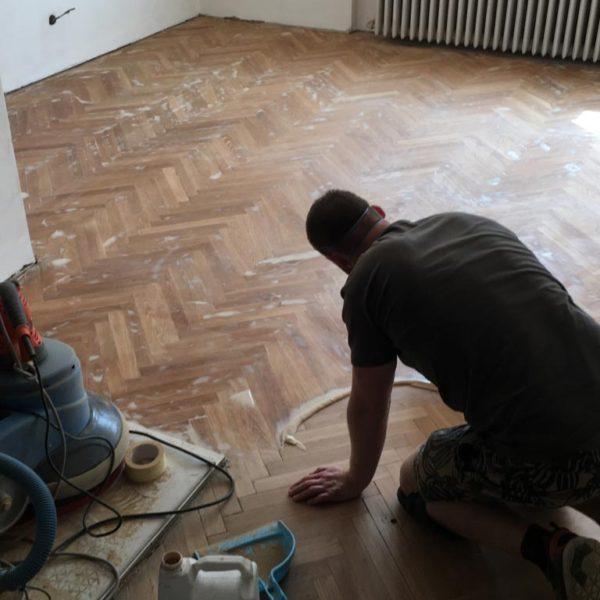 Renovace parket, Praha 7